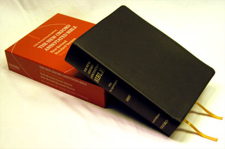 Nrsv new oxford annotated bible black genuine leather 9780195289572.