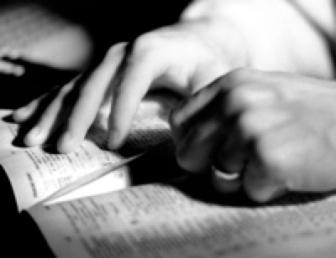 bible study hands
