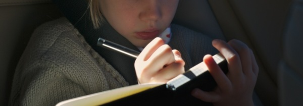 Writing - Girl in Car