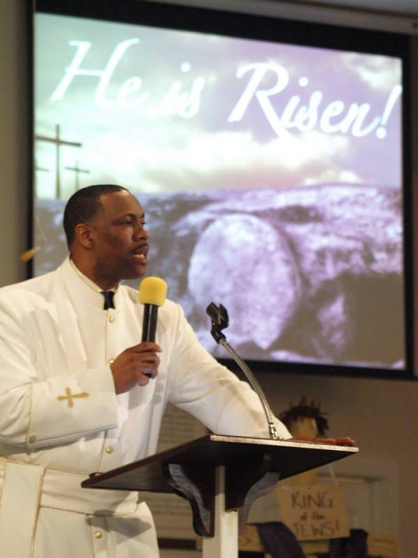 Pastor Layne Fields of Old Pleasant Hill Baptist Church, Conyers.